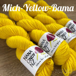 Mich-Yellow-Bama - Sumptuous DK/10ply - The Woven Nana-Cindy Exclusive