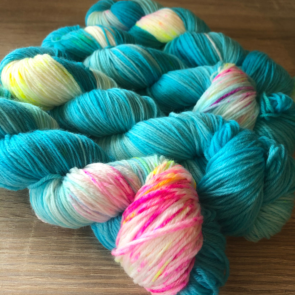 What Even Is Blue Raspberry? NZ Milled and Dyed 4ply Merino Nylon
