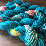 Aqua chunky yarn for knitting