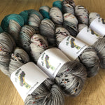 Grey Turquoise knitting wool