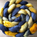 Sand and Stone - Hand dyed Fine Corriedale Silk Fibre