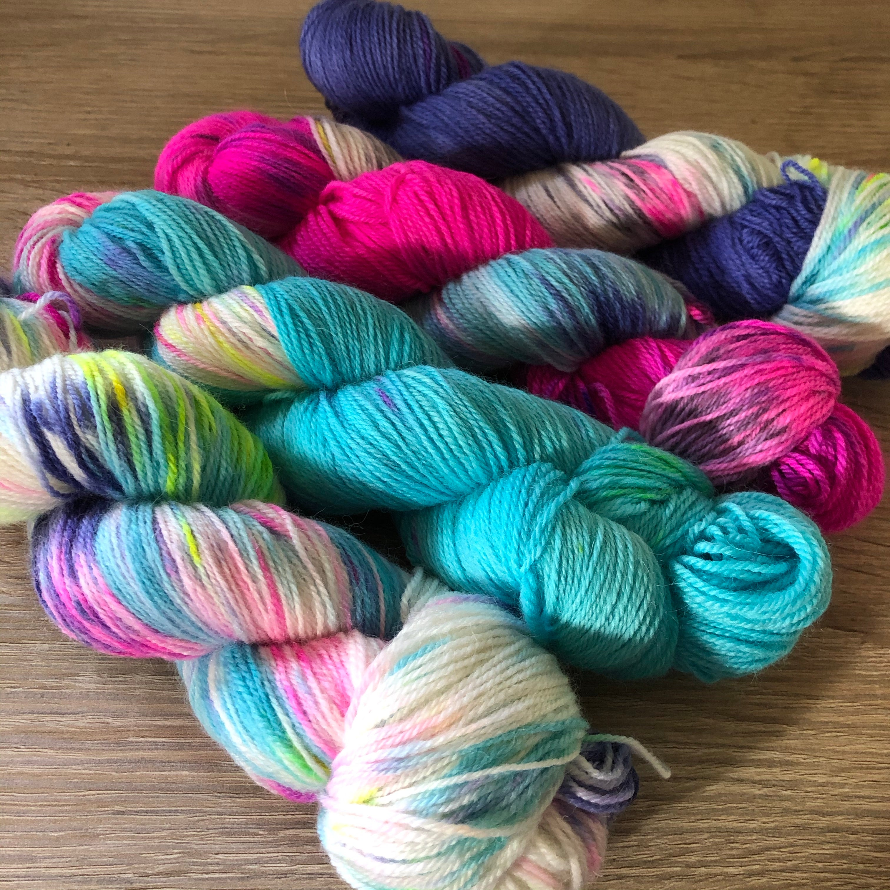 Cupcake Fade Kit - Dreamy NZ Grown Milled and Dyed Polwarth Alpaca