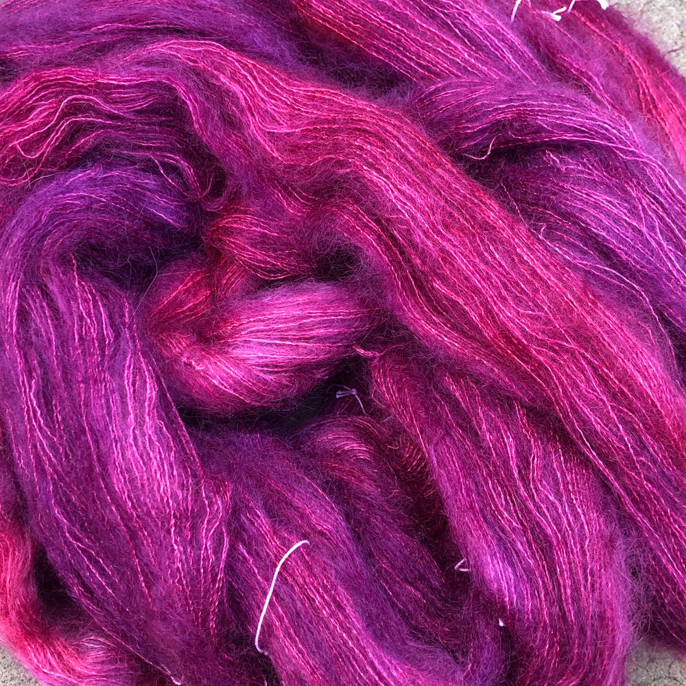 Boysenberry Beauty - Kid Mohair Silk Fluff