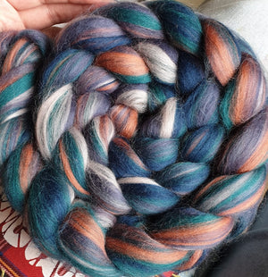 Abandoned Fairground Dye Candy Custom Blended Fibre
