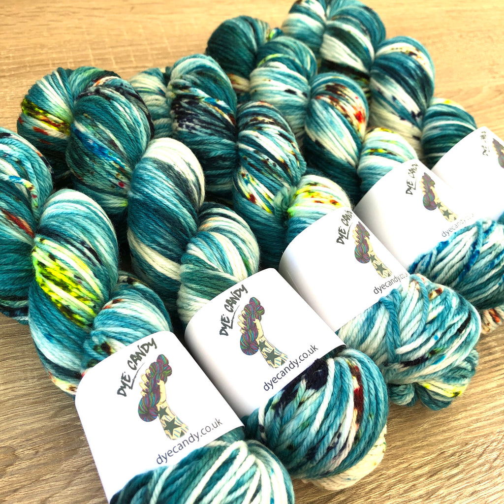 Aqua knitting yarn