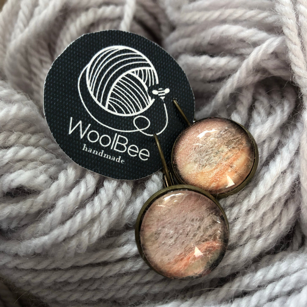 Woolbee Handmade Yarn Earrings