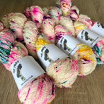 Unicorn Massacre Dye Candy Squiggle Fingering Yarn