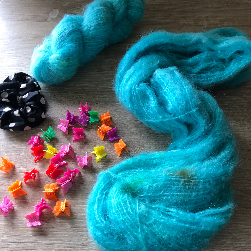 Aqua - NZ Milled and Dyed 12ply Mohair