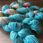 What Even Is Blue Raspberry? Unicorn Sparkles Worsted/Aran Weight Merino Wool Yarn