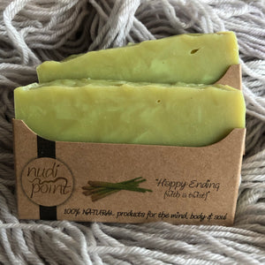 "Nudi Point Body Bar Soap ""Happy Ending (with a twist)"""