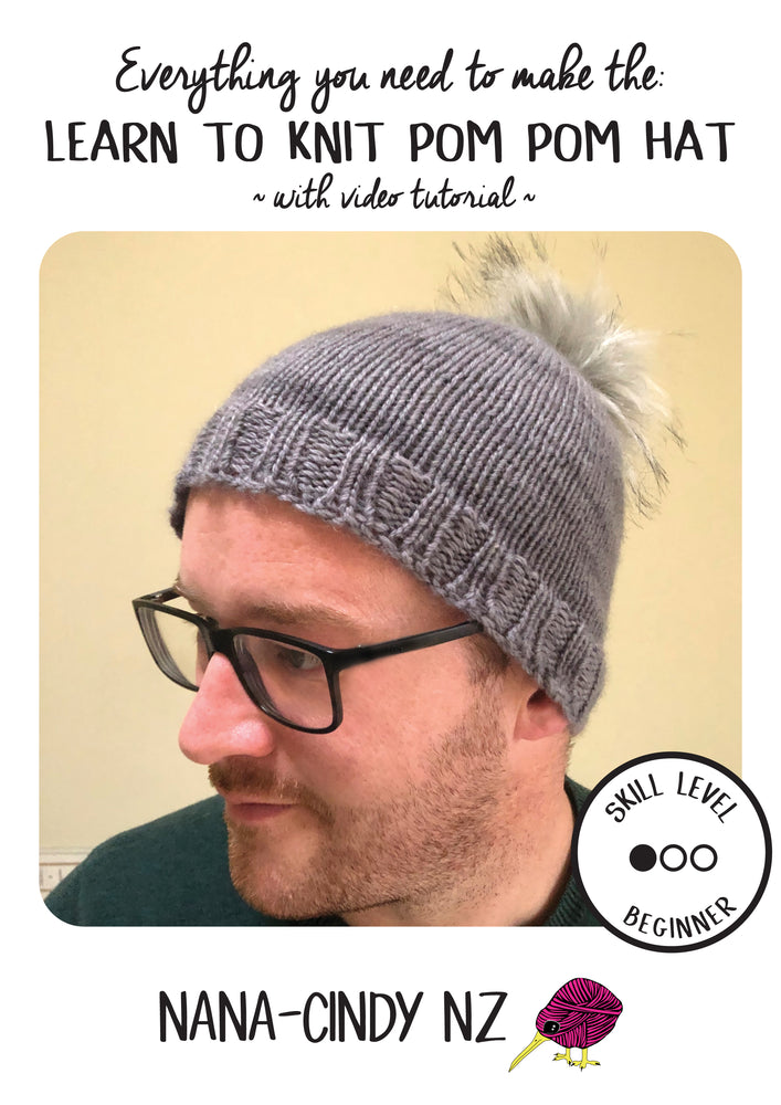 Load image into Gallery viewer, Beginners knitting kit hat