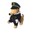 Dark blue dog cosplay police halloween costume