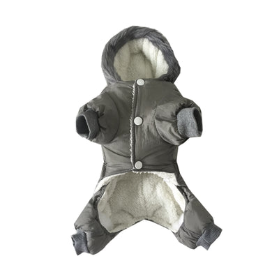 Gray puppies Pet costume Cotton Clothes for autumn and winter