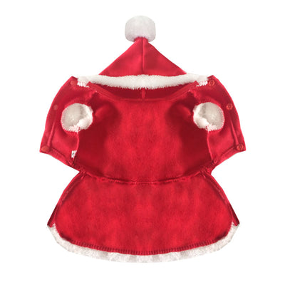 Red Pet Christmas suits Christmas dresses Christmas pet clothes dog costume