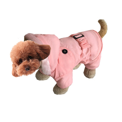 Pink puppies Pet costume Cotton Clothes for autumn and winter
