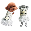 Beige Pet summer lace dress skirt puppy evening dress princess skirt dog costume