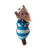 Blue Summer striped cotton t-shirt dog clothes