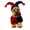 Clown suits Halloween Funny pet transfiguration costume for small dog