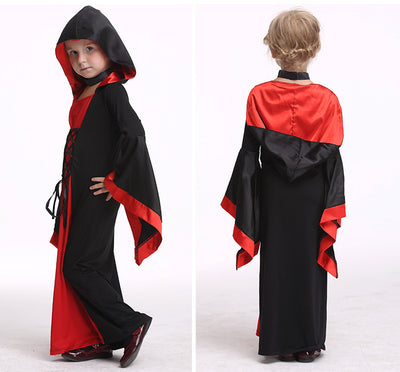 Halloween cosplay for children witch long section Costume