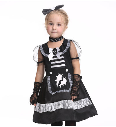 Black Halloween Cosplay Girl Costume Outfit