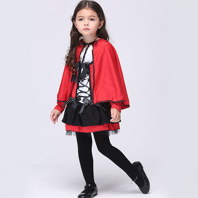 Halloween little red cap devil cloak cosplay animation costume