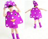 Purple mushroom Children fruits vegetables costumes