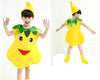 Yellow pear Children fruits vegetables costumes