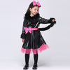 Girls Halloween Cat costume Cosplay dress