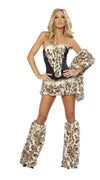 Leopard Hood Leather Wild Cat Costumes