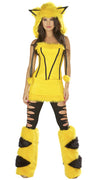 Womens Hooded Pikachu Halloween Costumes