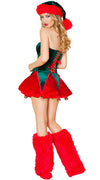 Green off Shoulder Womens Christmas Santa Costumes