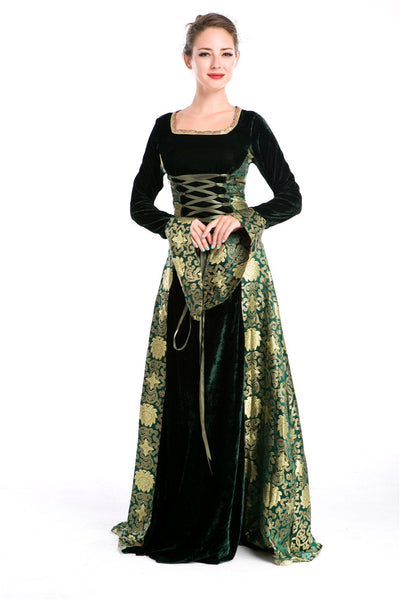 European Renaissance Queen Costumes for Holiday Party and Halloween