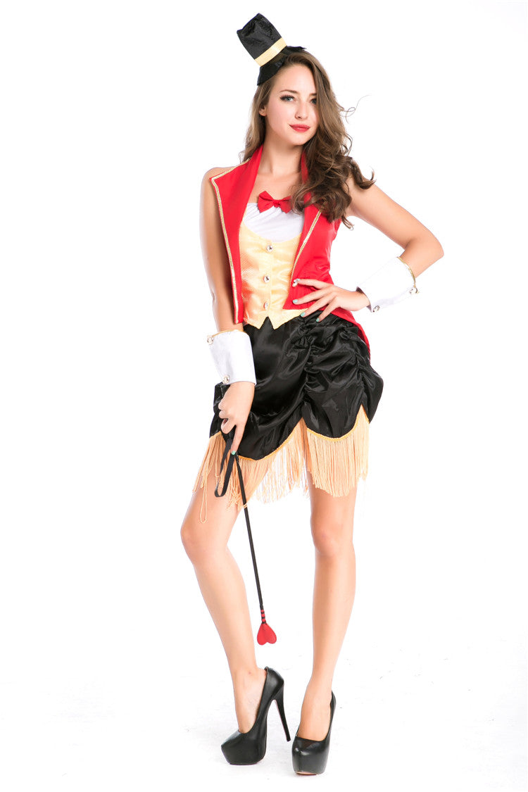 Women Red off Shoulder Circus Magician Costumes  sc 1 st  Zaydle & Women Red off Shoulder Circus Magician Costumes - Zaydle