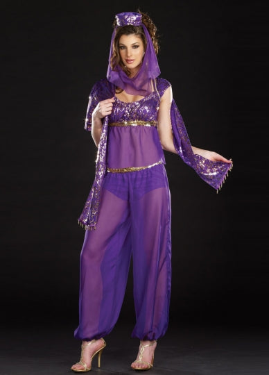 Purple Native Genie Costume