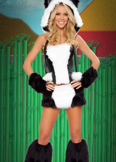 Women's Snuggly Panda Bear Costume
