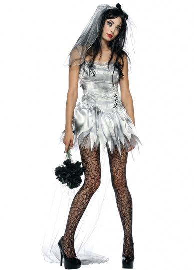White Lacy Zombie Bride Halloween Costume_P38Q6533W