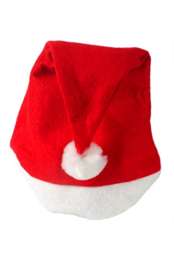 Red Cute Womens Christmas Accessory Warm Coral Velvet Santa Hat