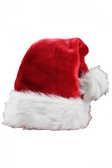Red Modern Womens Flannel Santa Christmas Hat