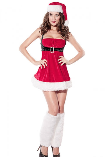 Womens Pretty Sleeveless Ugly Christmas Costume Red