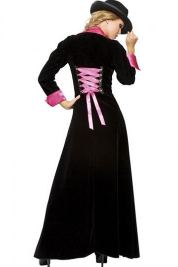Black Stylish Womens Pimp Gangster Halloween Costume