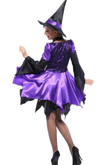 Purple Exquisite Womens Witch Halloween Costume