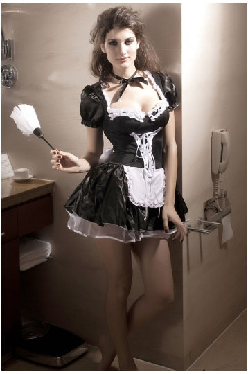 Girls Sissy Halloween Maid Costume Black