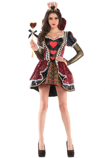 Womens Plaid Bow Alice Evil Red Queen Halloween Costume Brown  sc 1 st  Zaydle & Evil Queen Costumes - Zaydle