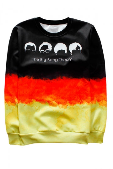 Red Big Bang Theory Printed Crew Neck Pretty Ladies Sweatshirt