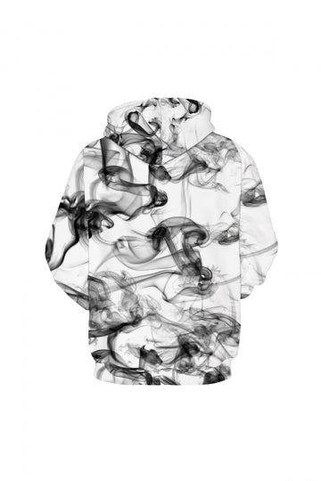 Dreamy Smocke Digital Printed Hoodie White