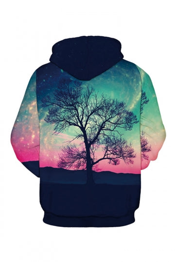 Galaxy Tree Digital Printed Pink