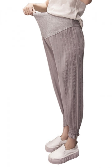 Loose Elastic Pants For Pregnant Women Gray
