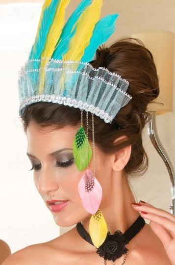 Color Feather Hair Hoop