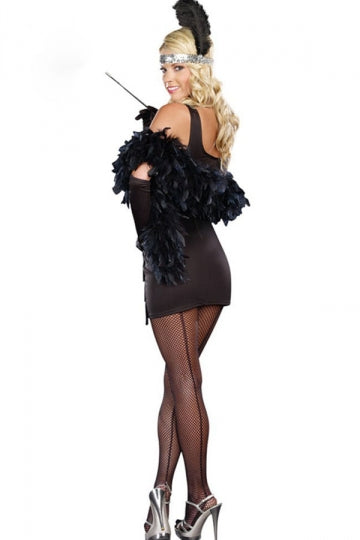 Black Fashion Ladies Sequin Halloween Circus Costume