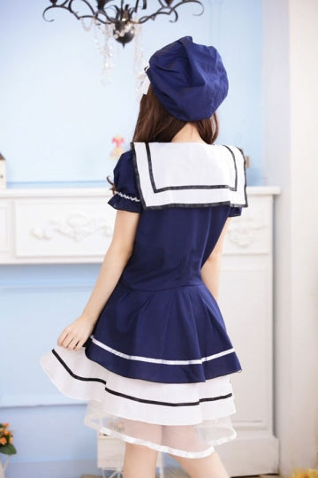 New Female Cute Sailor Halloween Costume